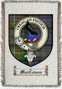 Maccowan Clan Macdonnell Clan Badge Throw Blanket