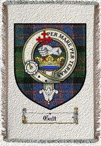 Galt Clan Badge Throw Blanket