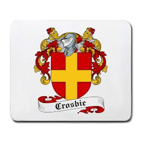 Crosbie Coat of Arms Mouse Pad