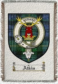 Atkin Clan Badge Throw Blanket