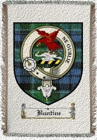 Buntine Clan Badge Throw Blanket
