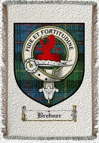 Brebner Clan Badge Throw Blanket