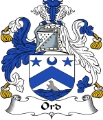 Ord Family Crest / Ord Coat of Arms JPG Download