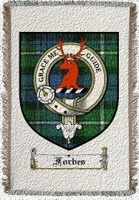 Forbes Clan Badge Throw Blanket