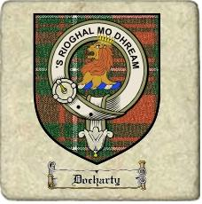 Docharty Clan Badge Marble Tile