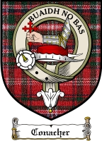 Conacher Clan Stewart Clan Badge / Tartan FREE preview
