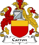 Carron Family Crest / Carron Coat of Arms JPG Download