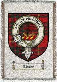 Clarke Clan Badge Throw Blanket