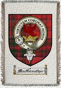 Macgrouther Clan Badge Throw Blanket
