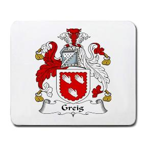 Greig Coat of Arms Mouse Pad