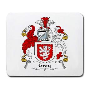 Grey Coat of Arms Mouse Pad