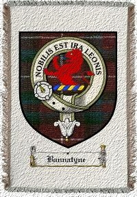 Bannatyne Clan Stuart Clan Badge Throw Blanket