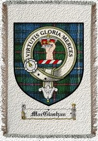 Macglashan Clan Robertson Clan Badge Throw Blanket