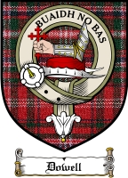 Dowell Clan Badge / Tartan FREE preview