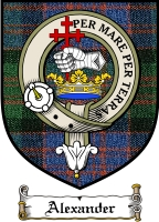 Alexander Clan Macdonnell Clan Badge / Tartan FREE preview