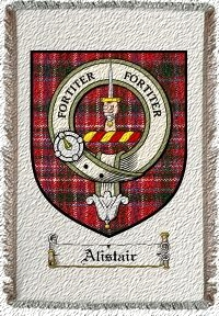 Alistair Clan Badge Throw Blanket