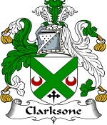 Clarksone Family Crest / Clarksone Coat of Arms JPG Download