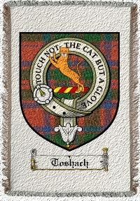 Toshach Clan Badge Throw Blanket