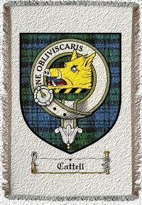 Cattell Clan Badge Throw Blanket