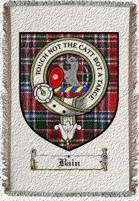 Bain Clan Macbain Clan Badge Throw Blanket