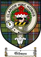 Gibson Clan Badge / Tartan FREE preview