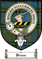 Broun Clan Badge / Tartan FREE preview