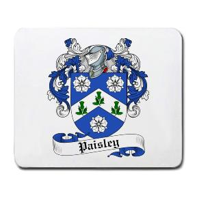 Paisley Coat of Arms Mouse Pad