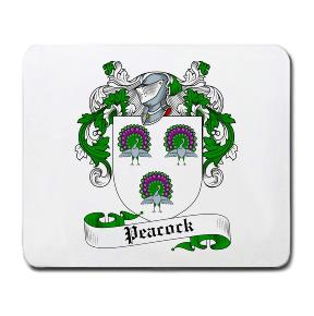 Peacock Coat of Arms Mouse Pad