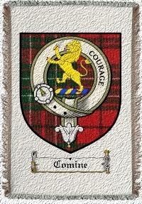 Comine Clan Badge Throw Blanket