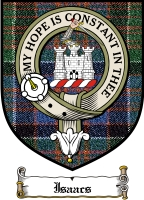 Isaacs Clan Badge / Tartan FREE preview