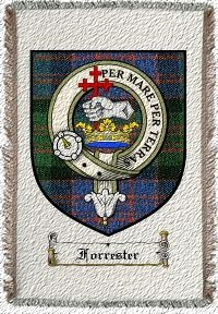 Forrester Clan Badge Throw Blanket