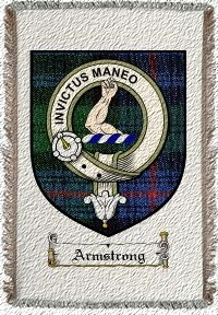 Armstrong Clan Badge Throw Blanket