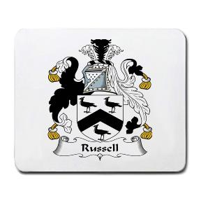 Russell Coat of Arms Mouse Pad