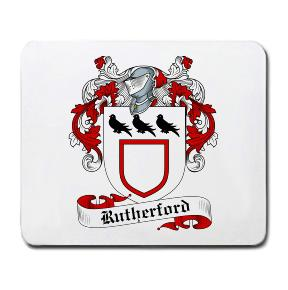 Rutherford Coat of Arms Mouse Pad