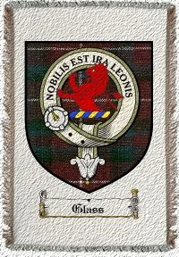 Glass Clan Badge Throw Blanket