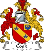 Cook Family Crest / Cook Coat of Arms JPG Download