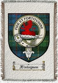 Finlayson Clan Badge Throw Blanket