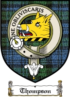 Thompson Clan Macthomas Clan Badge / Tartan FREE preview