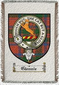 Glennie Clan Mackintosh Clan Badge Throw Blanket
