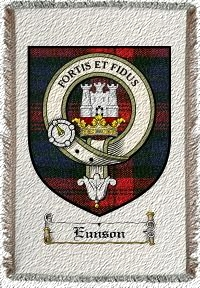 Eunson Clan Badge Throw Blanket