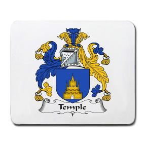 Temple Coat of Arms Mouse Pad