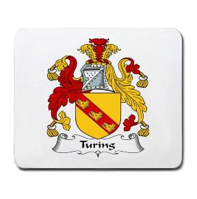 Turing Coat of Arms Mouse Pad