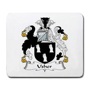 Usher Coat of Arms Mouse Pad