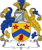 Cox Family Crest / Cox Coat of Arms JPG Download