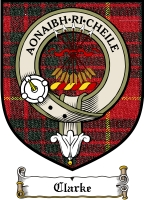 Clarke Clan Macintosh Clan Badge / Tartan FREE preview