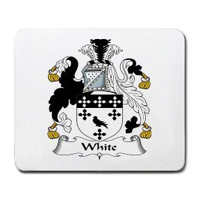 White Coat of Arms Mouse Pad