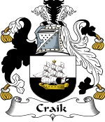Craik Family Crest / Craik Coat of Arms JPG Download