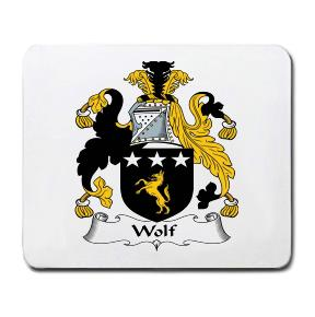 Wolf Coat of Arms Mouse Pad