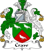 Craw Family Crest / Craw Coat of Arms JPG Download