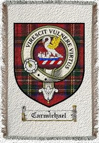 Carmichael Clan Stewart Clan Badge Throw Blanket